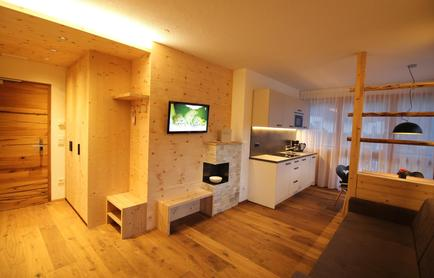 Luxury flats in Sout Tyrol in Valle Aurina